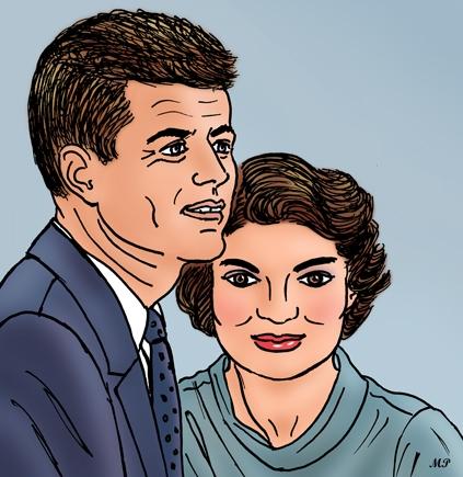 Jackie Kennedy, John F. Kennedy par MP69